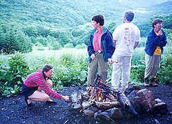 Marshmallows at Overmountain shelter