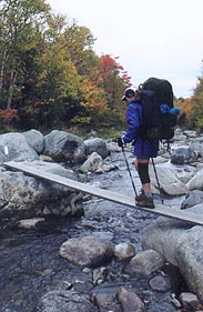 Crossing Carrabassett River