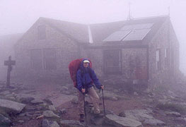 Lake of the Clouds Hut earns its namesake